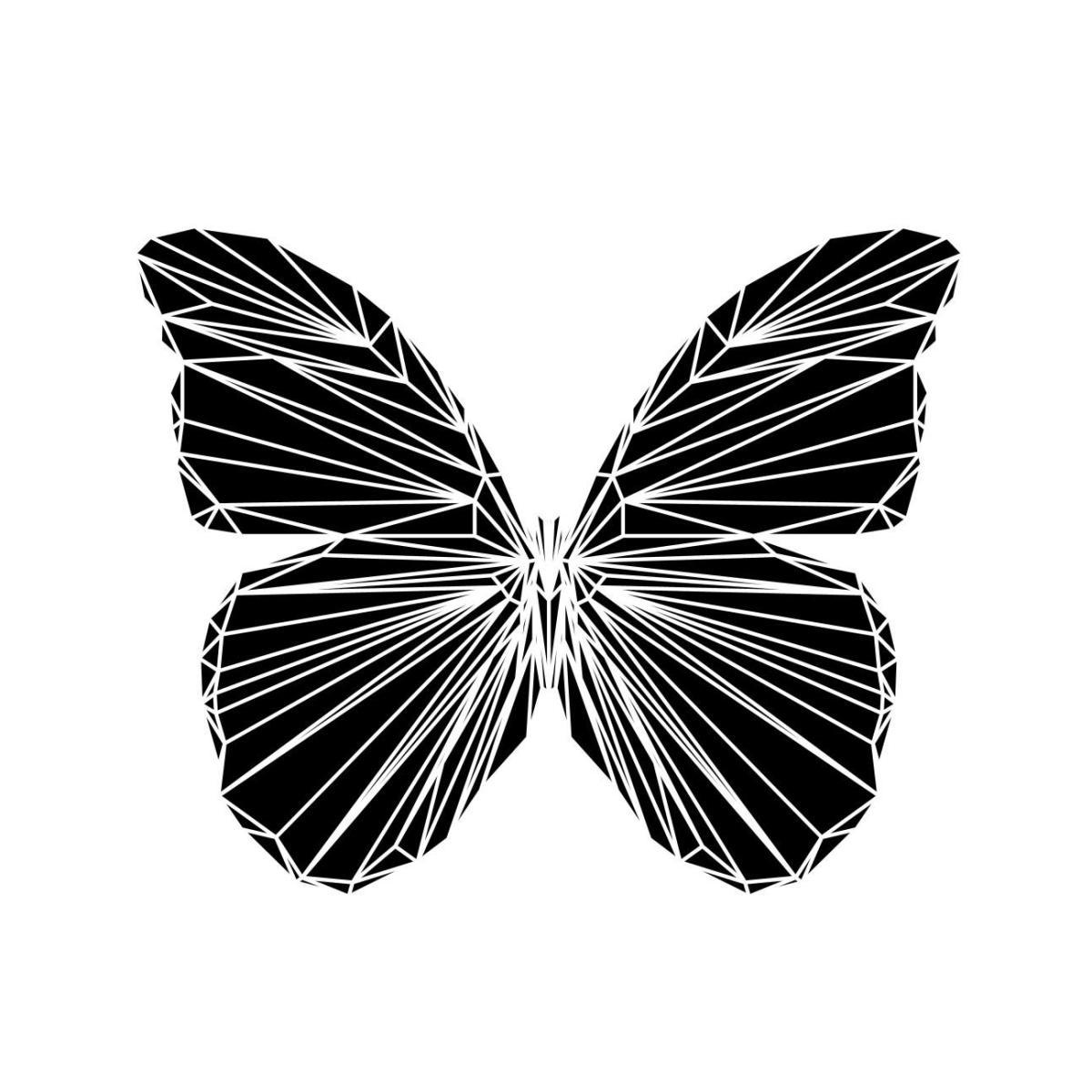 Black Butterfly By Naxart Studio Canvas Print At Naxart Com
