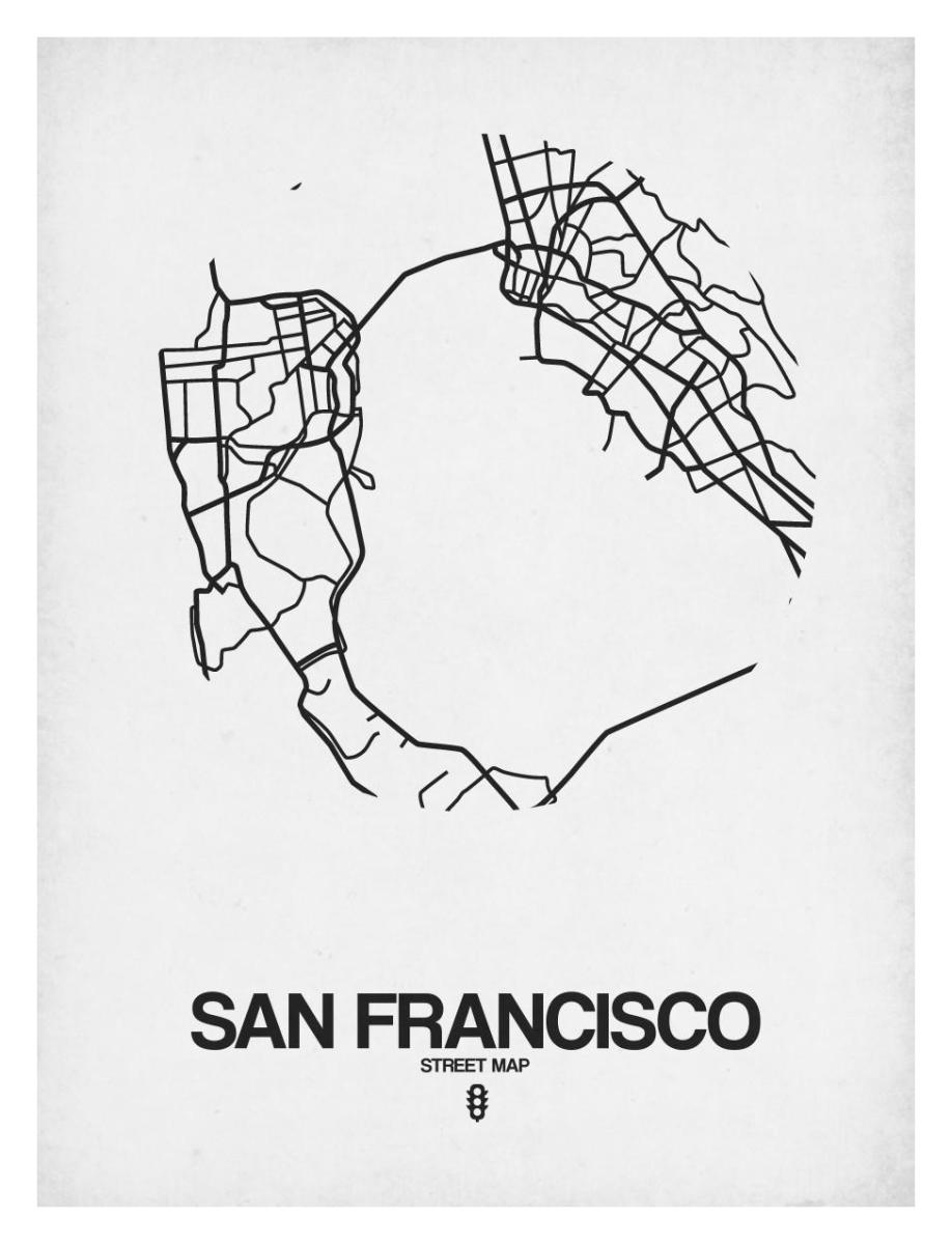 San Francisco Street Map White by NAXART Studio - Canvas ... on san francisco fog forecast, san francisco housing projects 1950, san francisco shopping district, paris street map printable, old san juan tourist map printable, cambridge street map printable, san francisco bay area redwood, yuma street map printable, houston street map printable, san francisco water rationing, san francisco general hospital potrero, berkeley california map printable, las vegas street map printable, san francisco ca tourist attractions, san francisco neighborhoods to avoid, east lansing street map printable, san francisco public transportation system, new orleans street map printable, san francisco tourism, downtown raleigh street map printable,