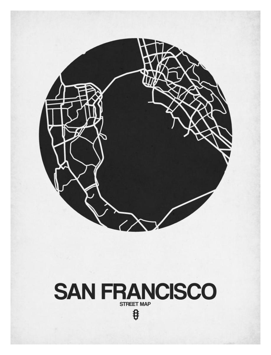 San Francisco Street Map Black on White by NAXART Studio ... on san francisco street parking map, san francisco attractions, san francisco haight-ashbury 60s, san francisco 1800s, venice street map print, london street map print, san francisco beaches swimming, key west street map print, san francisco cable car routes, san francisco 1915, san francisco street car map,