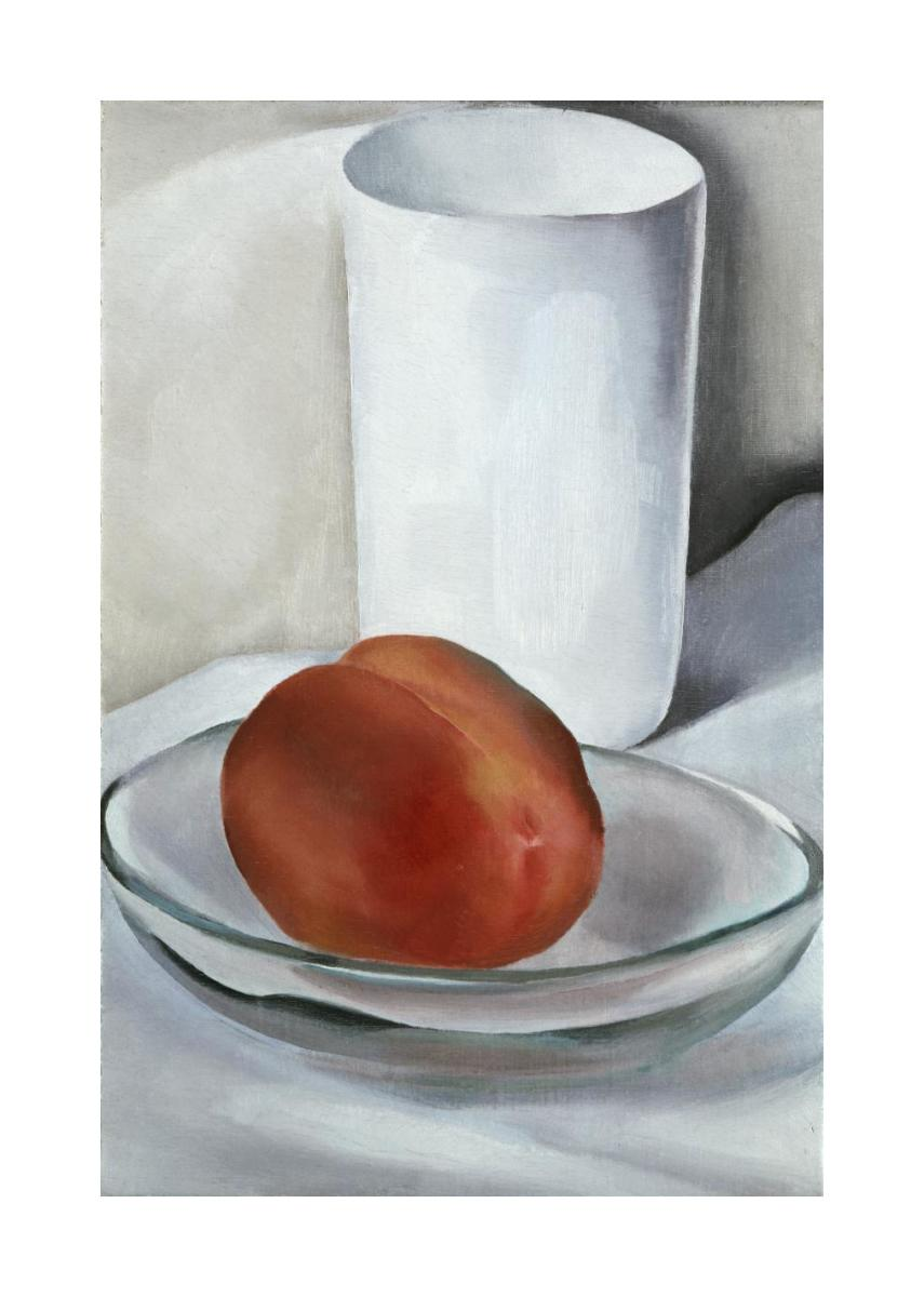 Peach And Glass 1927 By Georgia O Keeffe Paper And Canvas Print Philadelphia Museum Of Art Art On Demand Store