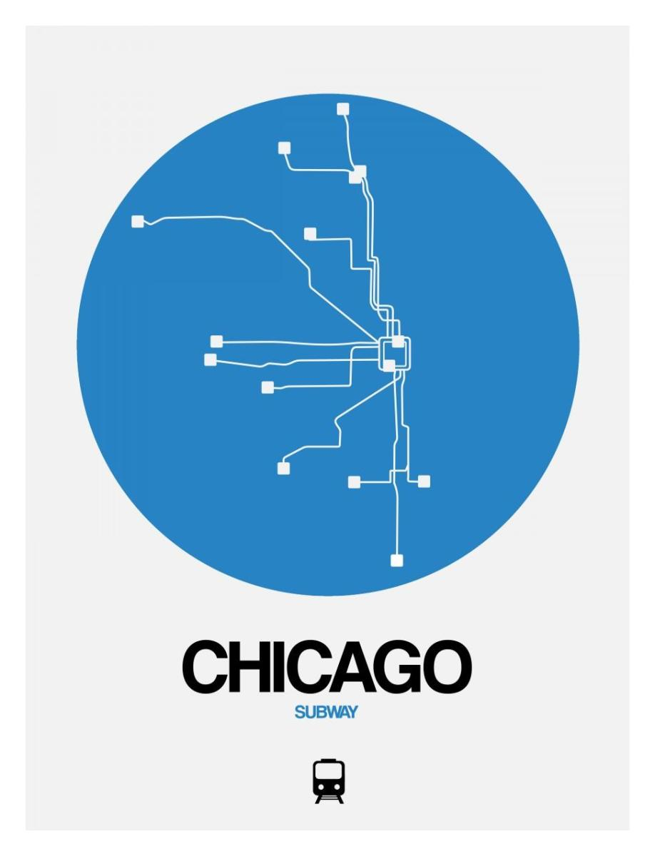 Subway Map Chicao.Chicago Blue Subway Map By Naxart Studio Canvas Print At Naxart Com