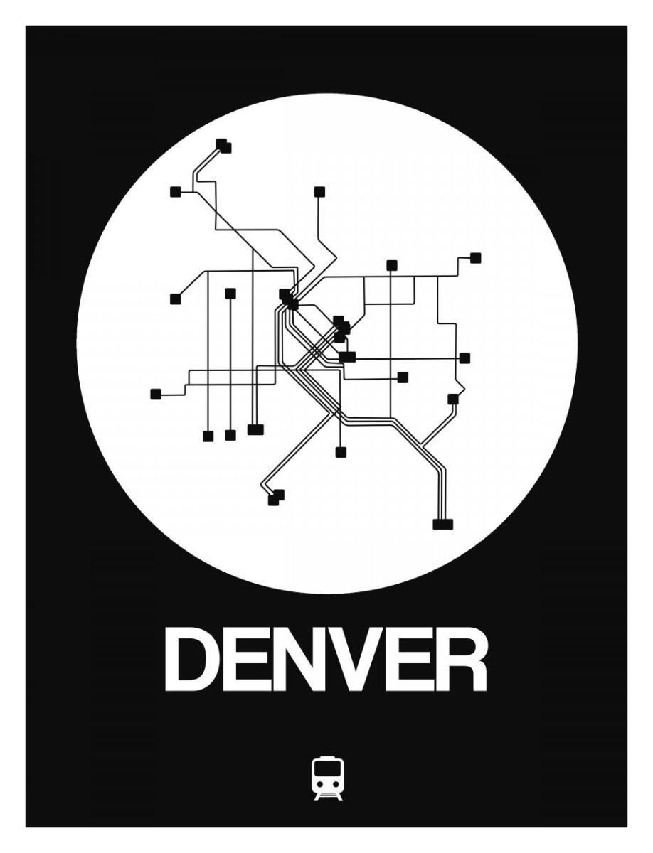 Black White Subway Map.Denver White Subway Map By Naxart Studio Canvas Print At Naxart Com