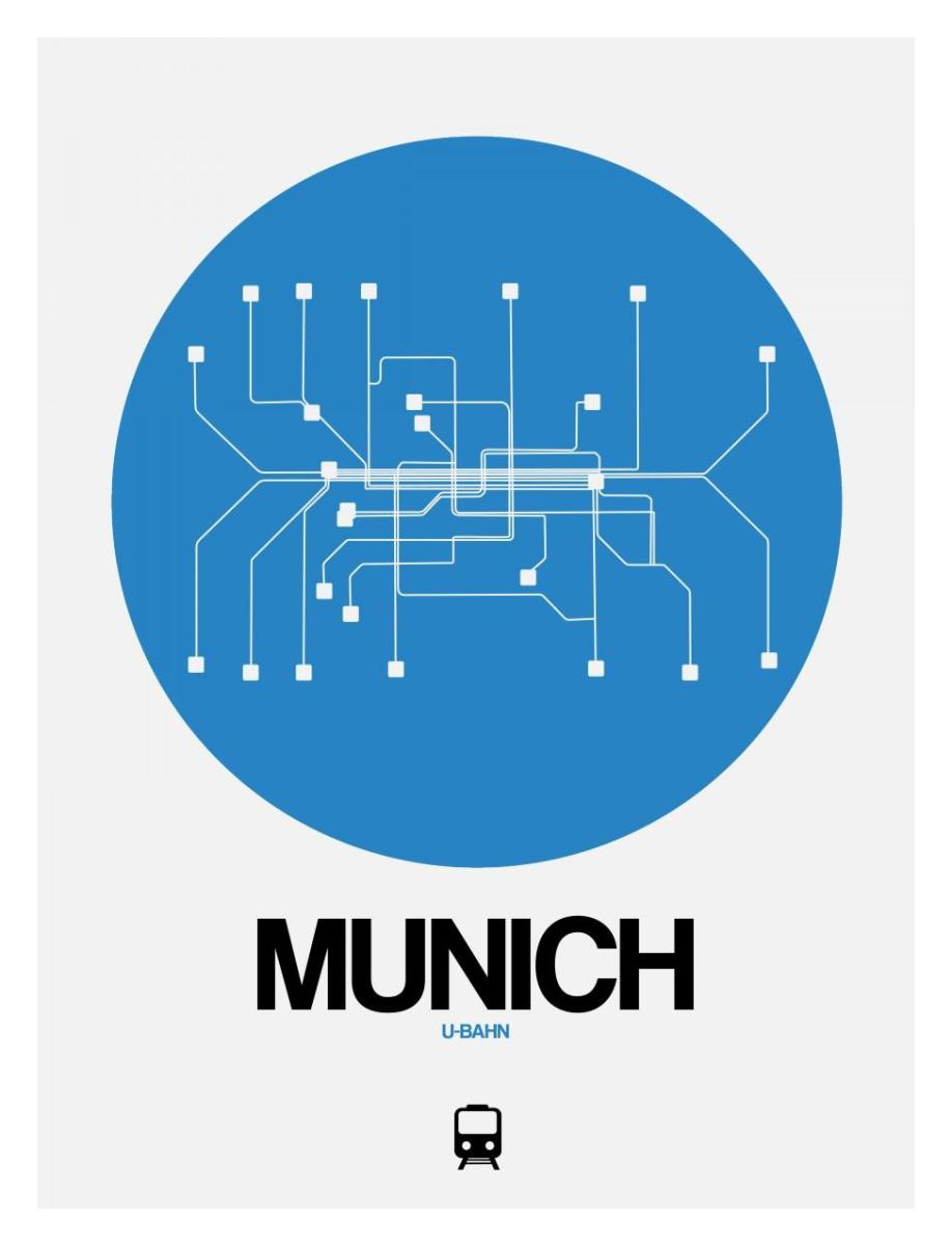Munich Subway Map.Munich Blue Subway Map By Naxart Studio Canvas Print At Naxart Com