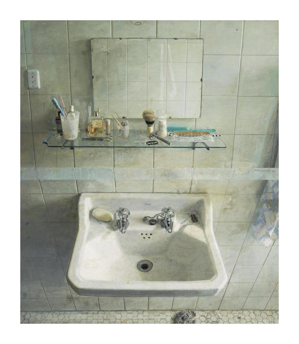 El Lavabo De Antonio Lopez.Sink And Mirror Lavabo Y Espejo 1967 By Antonio Lopez