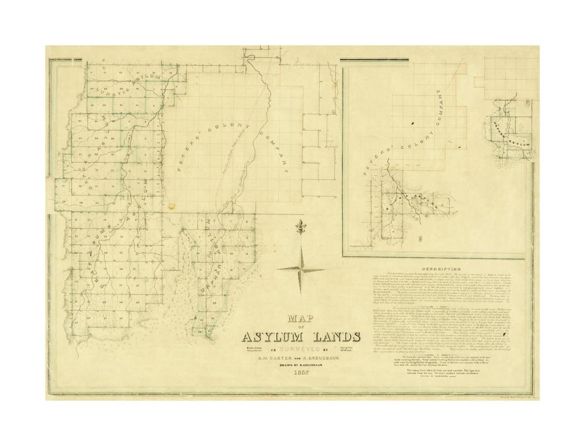 Map Of Texas Capitol.R Creuzbaur Map Of Asylum Lands Callahan County 1857
