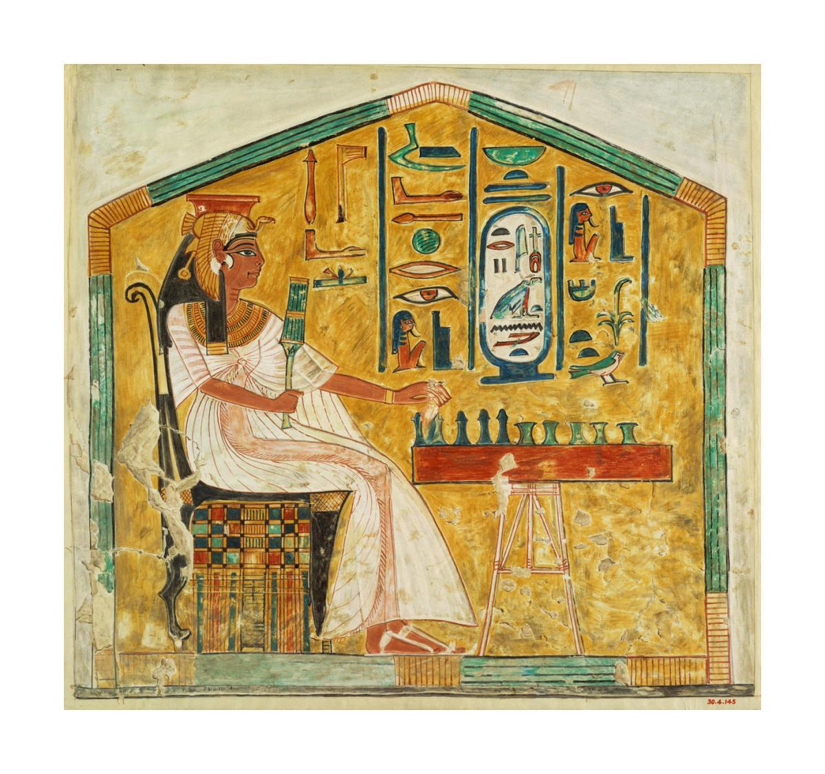 Queen Nefertari Playing Senet by Unknown Egyptian artist