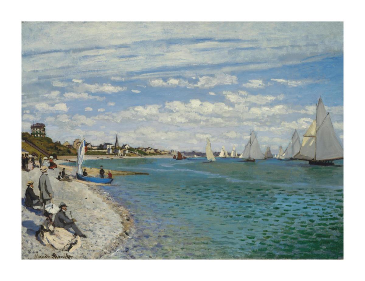 Boats at Sainte-Marie by Van Gogh printed on 230gsm paper