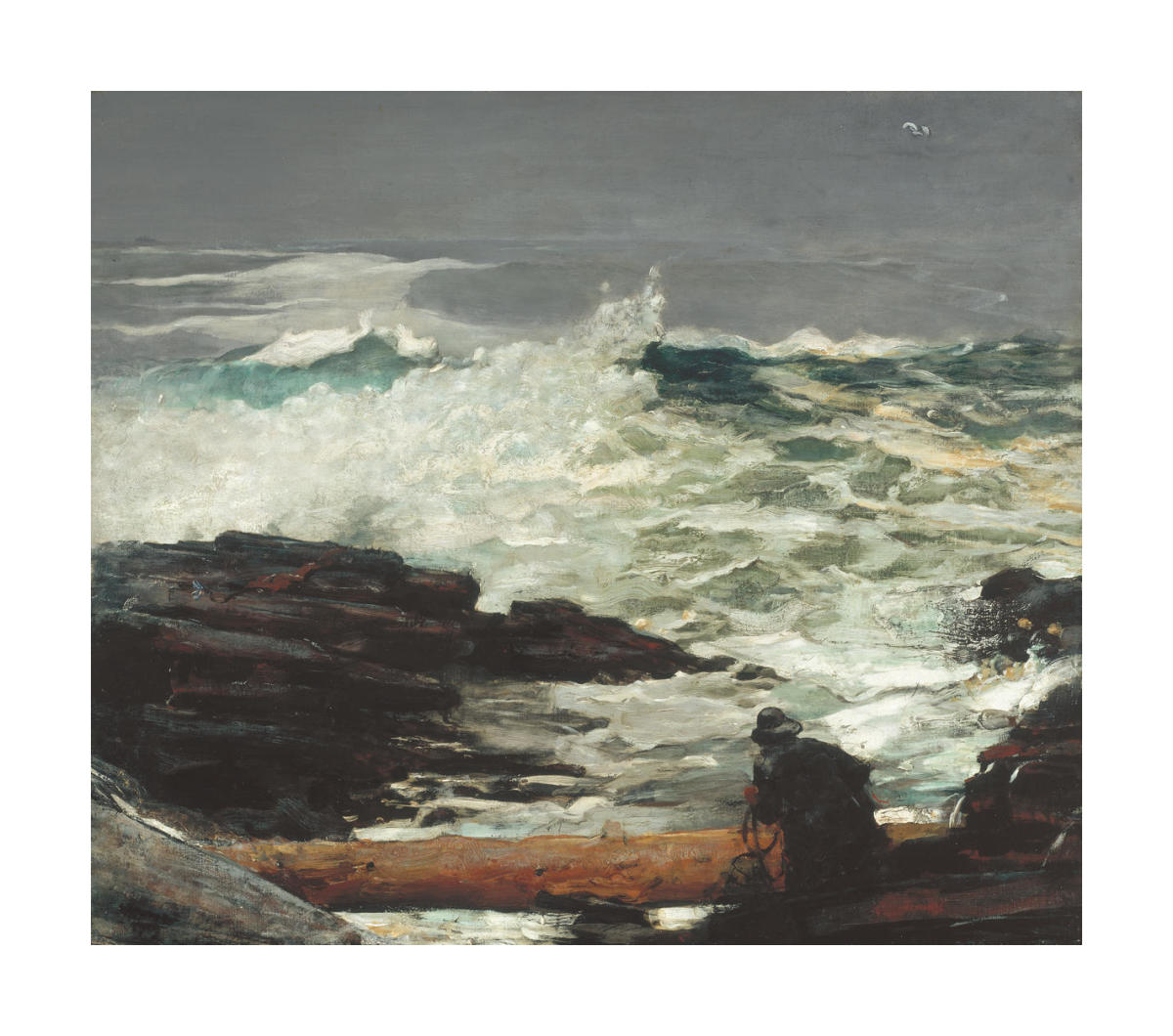 Right and Left  by Winslow Homer  Paper Print Repro